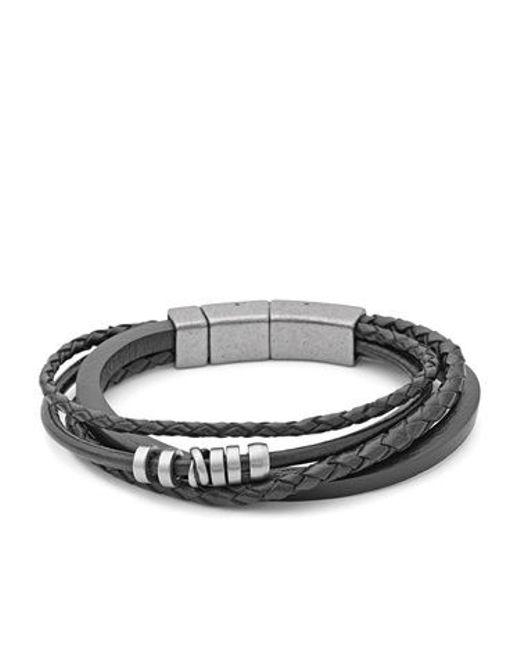 Fossil | Black Jf85299040 Mens Bracelet for Men | Lyst