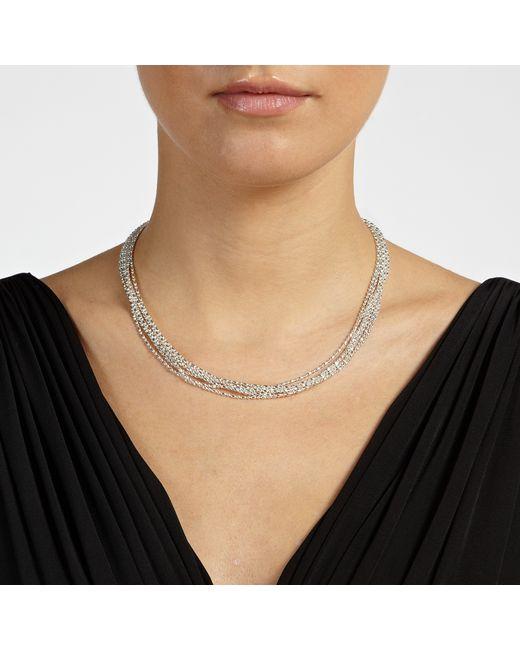 John Lewis | Metallic Layered Fine Chain Necklace | Lyst