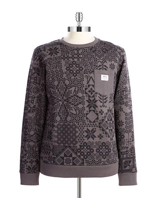 Wesc | Gray Fairisle Crewneck Sweatshirt | Lyst