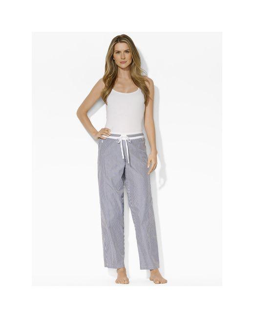Pink Pony   Blue Cotton Poplin Pajama Pant   Lyst
