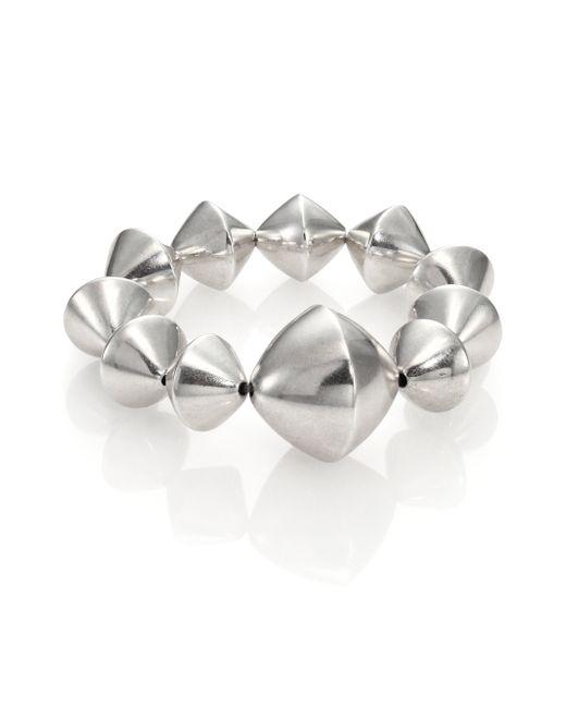 Nest | Metallic Large Bi-cone Beaded Stretch Bracelet | Lyst