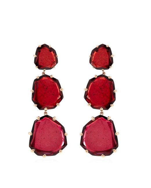 Annoushka   Red Shard Triple Drop Earrings   Lyst