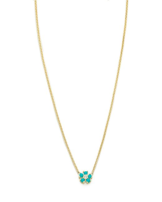 Jennifer Meyer | Blue Turquoise Flower Necklace | Lyst