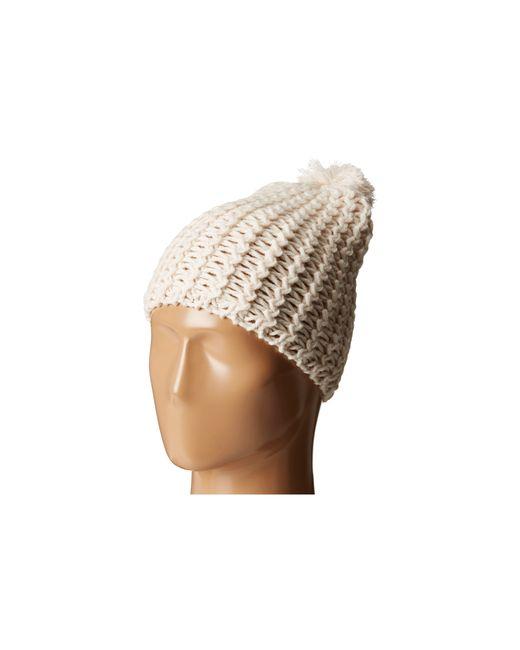 Hat Attack | White Chevron Knit Skully | Lyst