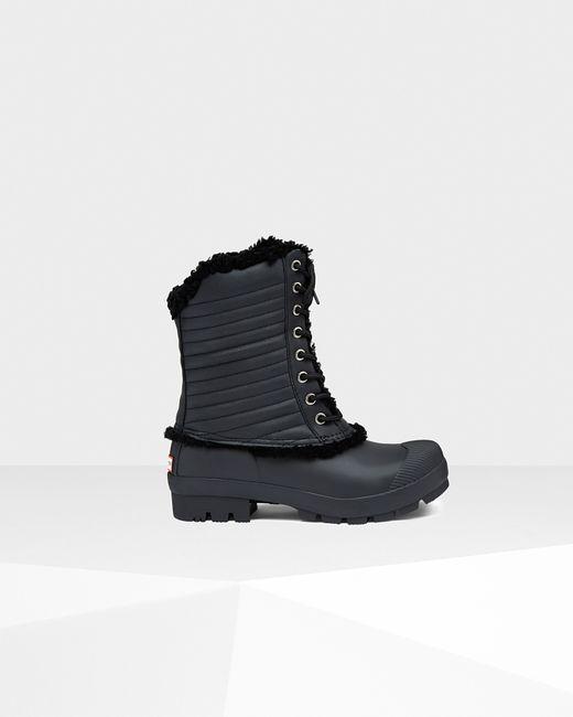 Hunter   Black Original Shearling Pac Boots   Lyst