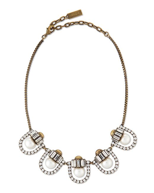 Auden | Metallic Lana Crystal-pearl-station Necklace | Lyst