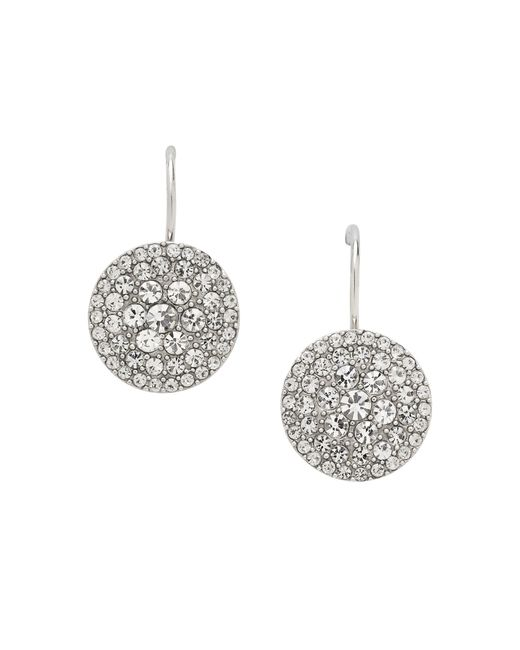 Fossil | Metallic Jf00134040 Ladies Silver Iconic Glitz Earrings | Lyst