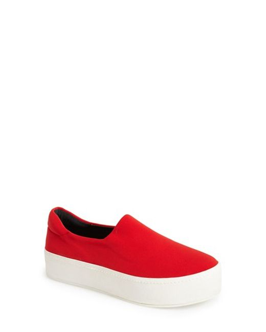 Opening Ceremony | Red 'grunge' Slip-on Platform Sneaker | Lyst