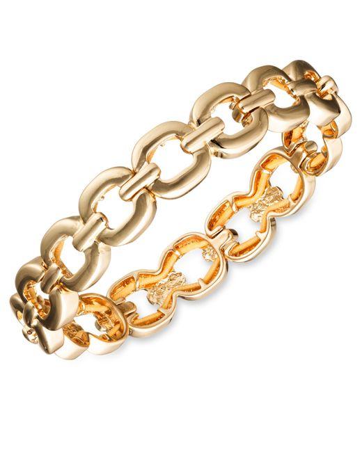 Nine West | Metallic Glitzy Links Crystal Stretch Bracelet | Lyst