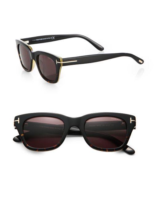 tom ford snowdon acetate sunglasses in black for men lyst. Black Bedroom Furniture Sets. Home Design Ideas