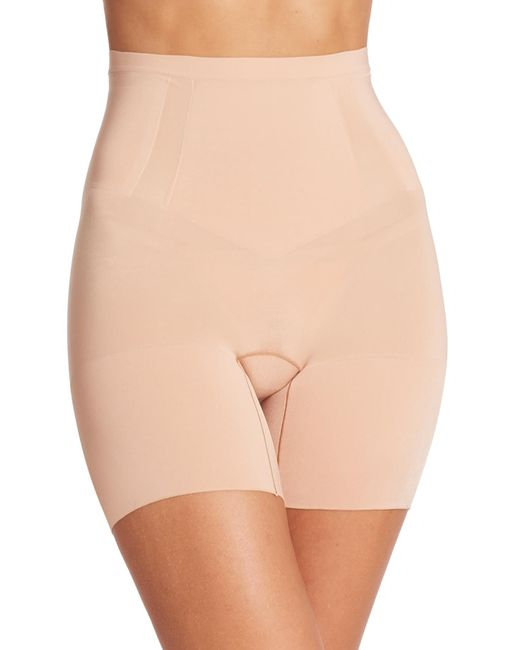 Spanx | Natural Oncore Mid-thigh Shorts | Lyst