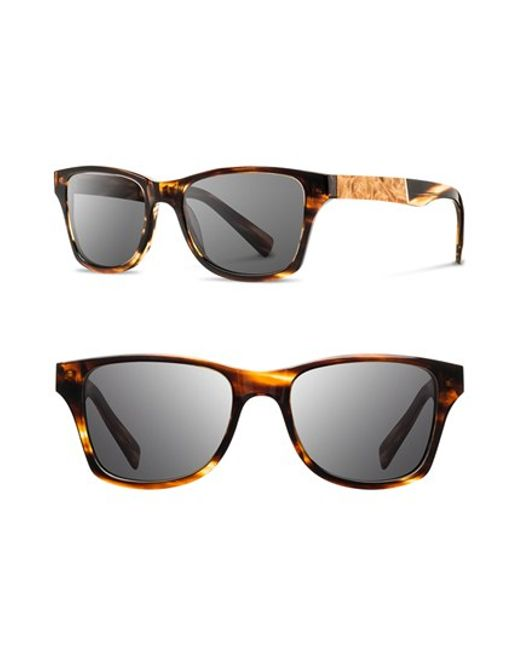 Shwood | Brown 'canby' 54mm Polarized Wood Sunglasses for Men | Lyst