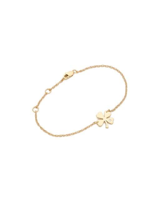 Jennifer Zeuner   Metallic Mini Clover Bracelet   Lyst