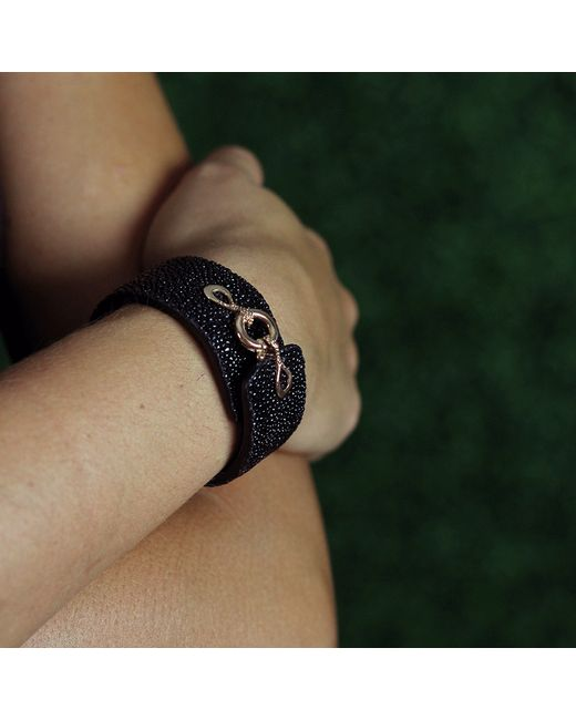 Federica Rettore | Black Stingray And Leather Bracelet | Lyst