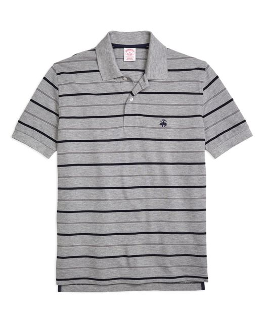 Brooks Brothers | Gray Original Fit Undercollar Detail Stripe Polo Shirt for Men | Lyst