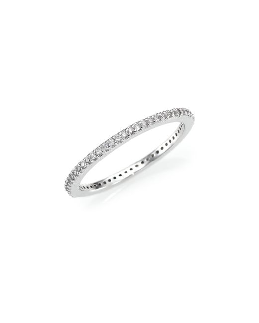 Adriana Orsini | Metallic Small Eternity Band Ring | Lyst