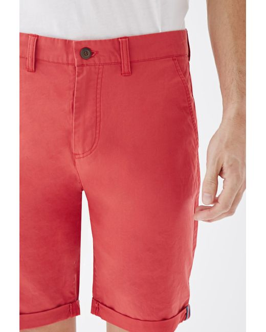 Forever 21   Red Cuffed Chino Shorts for Men   Lyst