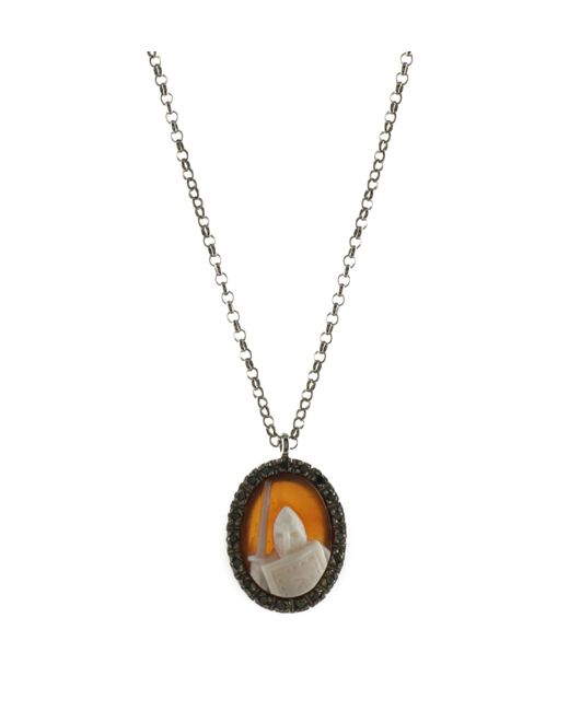 Amedeo | Orange Amedeo Knight Cameo Pendant | Lyst