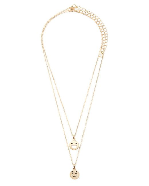 Forever 21 | Metallic Faces Necklace Set | Lyst