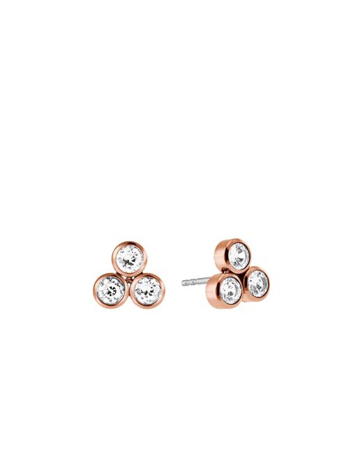 Michael Kors | Pink Rose-gold Stud Earrings | Lyst