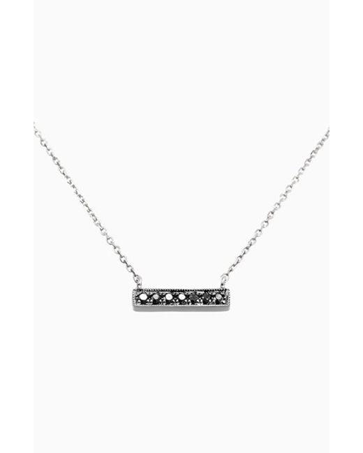 Dana Rebecca | Black 'sylvie Rose' Diamond Bar Pendant Necklace | Lyst