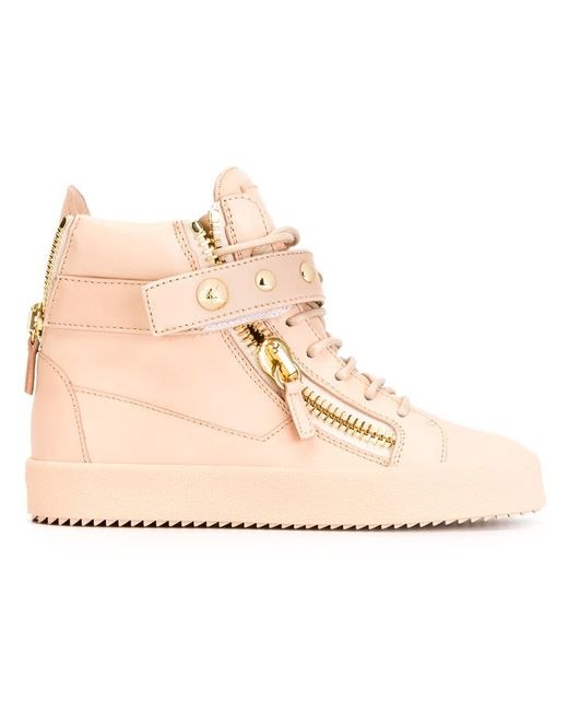 Giuseppe Zanotti riley Hi top Sneakers In Pink PINK amp PURPLE