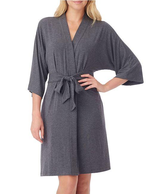 DKNY | Gray Urban Essentials Short Wrap Robe | Lyst