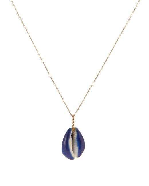 Aurelie Bidermann | Blue Merco Shell And Gold Necklace | Lyst