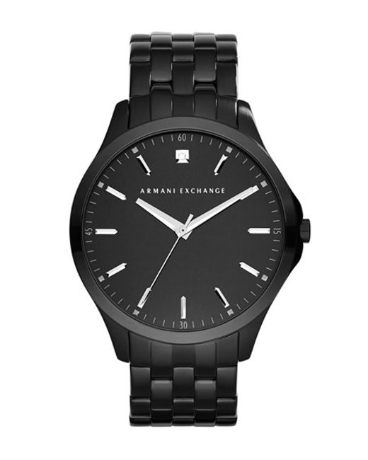 Armani Exchange | Black Diamond Marker Bracelet Watch for Men | Lyst