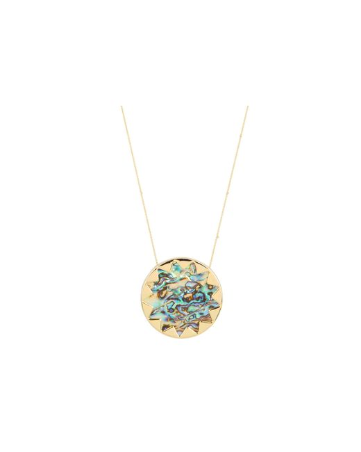House of Harlow 1960 | Yellow Sunburst Pendant With Abalone Shell | Lyst