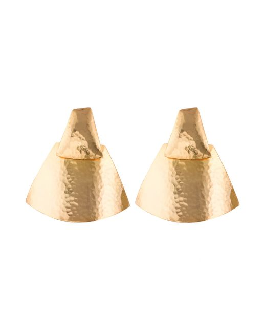 Natori | Metallic Hammered Gold Teardrop Earrings | Lyst