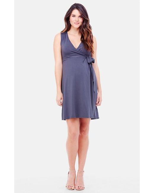Ingrid & Isabel | Blue Ingrid & Isabel Sleeveless Wrap Maternity Dress | Lyst