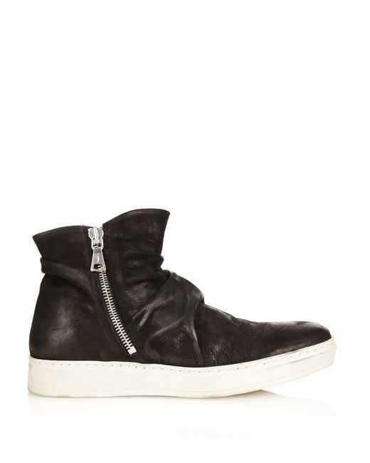 varvatos distressed leather boots in black for lyst