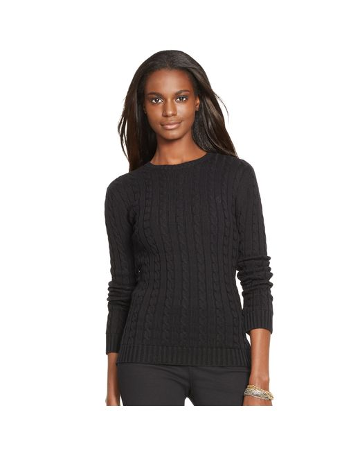 Pink Pony | Black Cable-knit Cotton Sweater | Lyst