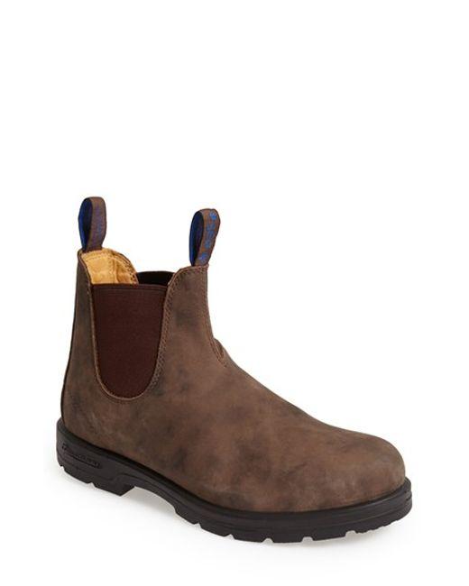 blundstone footwear waterproof chelsea boot in brown for