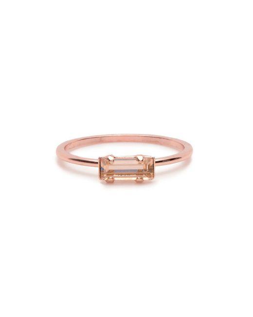 Bing Bang | Pink Tiny Baguette Ring | Lyst