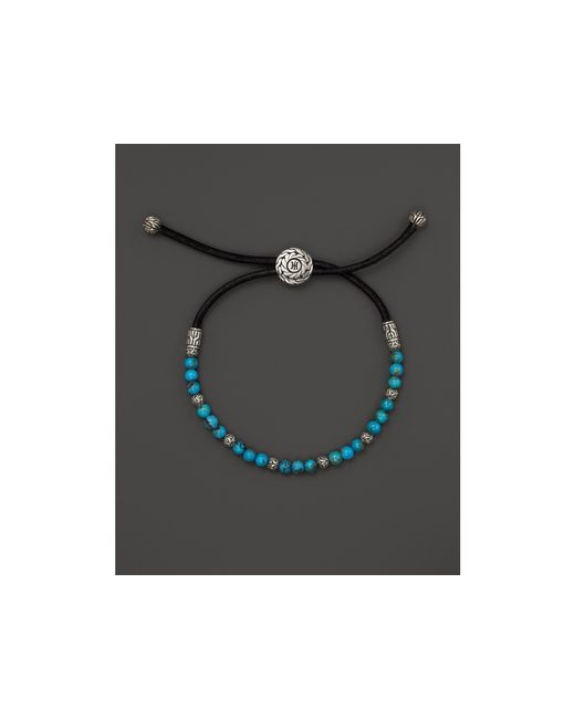 John Hardy | Blue Men's Sterling Silver Classic Chain Round Beads Bracelet With Turquoise for Men | Lyst