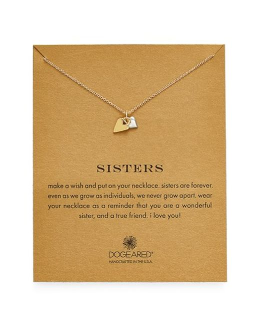 Dogeared | Metallic 'reminder - Sisters' Pendant Necklace (nordstrom Exclusive) | Lyst