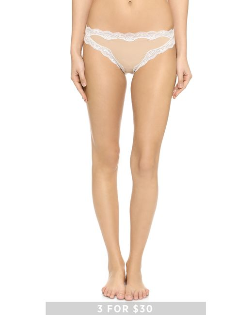 Calvin Klein | Natural Thong With Lace | Lyst