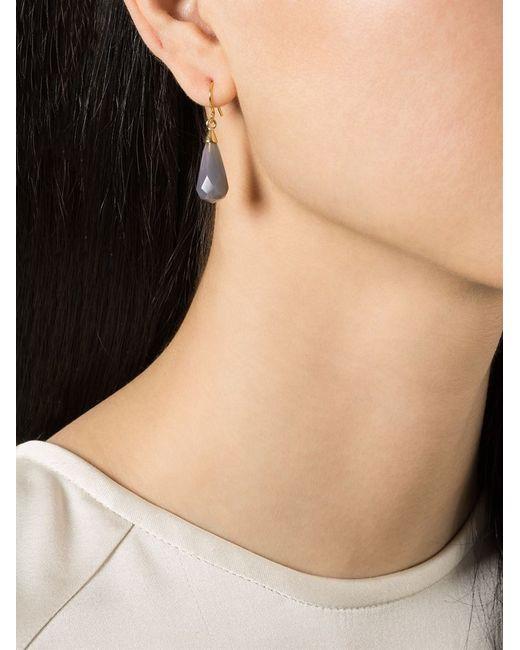 Wouters & Hendrix | Metallic Grey Agate Drop Earrings | Lyst