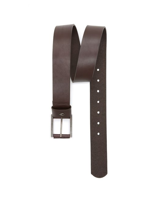 nixon americana leather belt in brown for brown