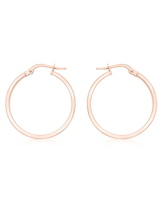 Ib&b | Pink 9ct Rose Gold Creole Earrings | Lyst