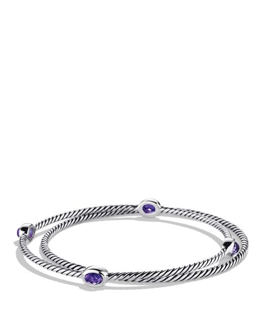 David Yurman | Metallic Color Classics Bangles With Amethyst | Lyst