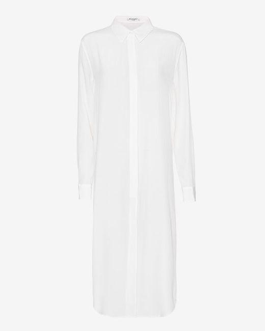 Equipment | White Crepe De Chine Striped Shirt | Lyst