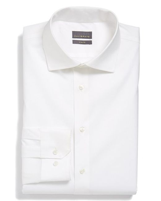 Calibrate | Blue Trim Fit Dress Shirt for Men | Lyst