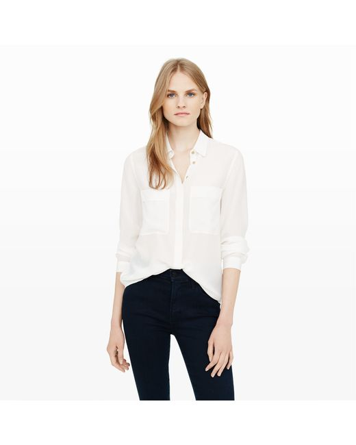 Club Monaco | White Mekkie Silk Shirt | Lyst