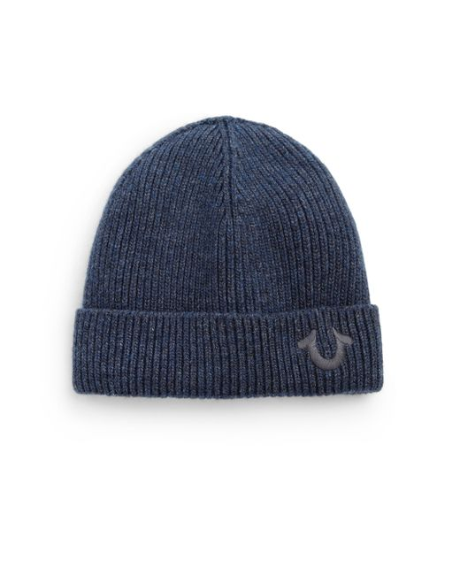 True Religion | Blue Logo Knit Watchcap for Men | Lyst