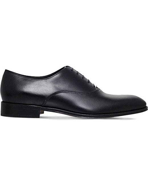 Ferragamo   Black Fedele Leather Oxford Shoes for Men   Lyst