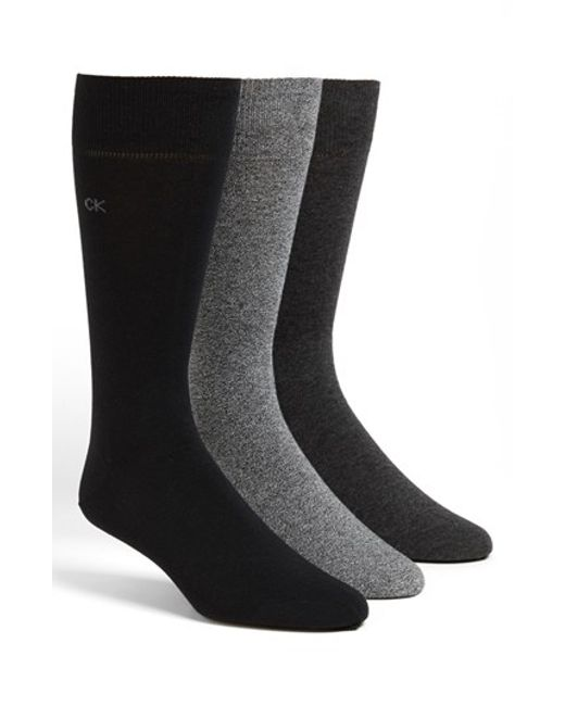 Calvin Klein | Black Cotton Blend Socks for Men | Lyst