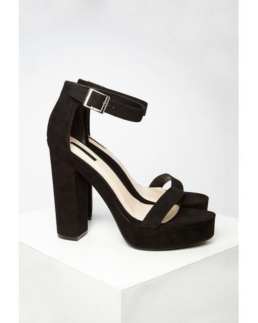 Forever 21   Black Platform Ankle Strap Sandals   Lyst